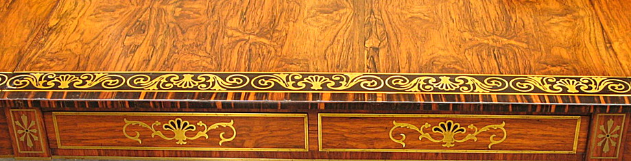 Header image showing a gold leaf inlaayed table.